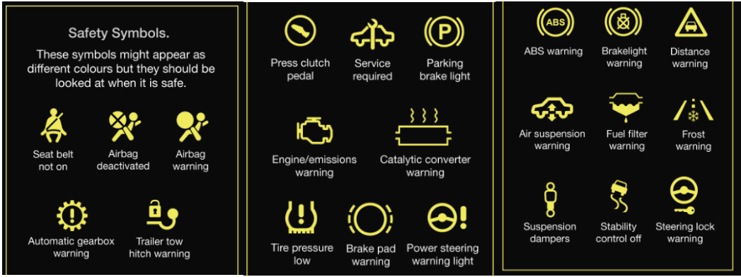 Dashboard Car Light Meanings